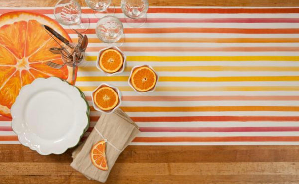 Citrus Stripe Table Runner