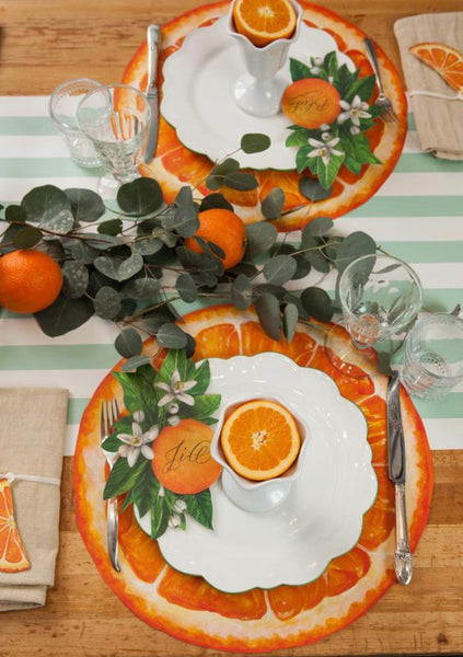Orange Slice Die Cut Placemats