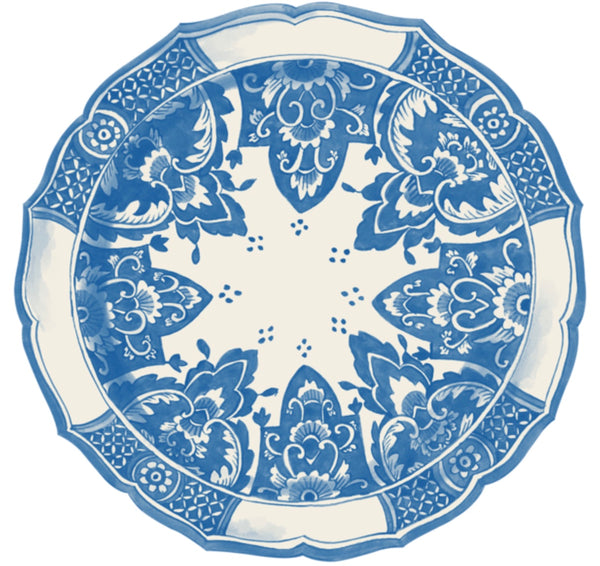 China Blue Die Cut Paper Placemats