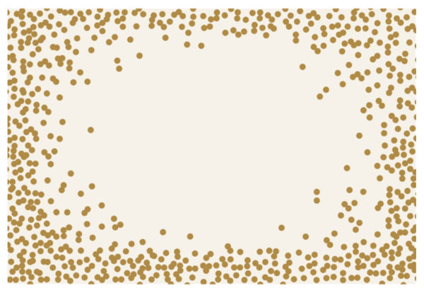 Confetti Gold Dot Paper Placemats