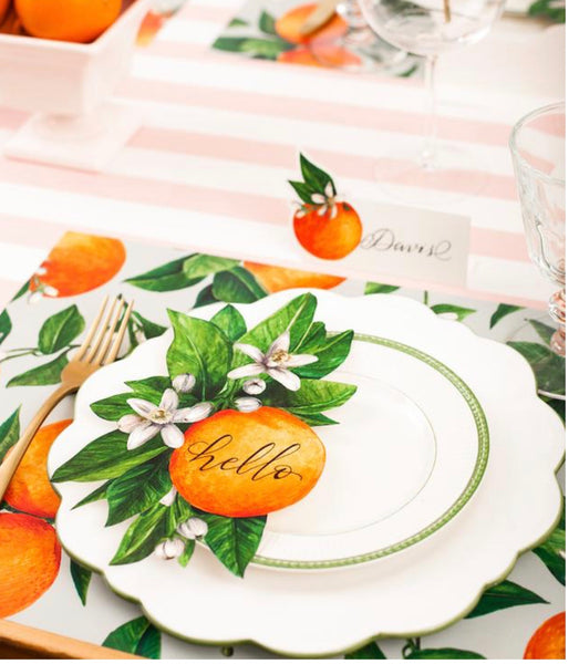 Orange Blossom Table Accents