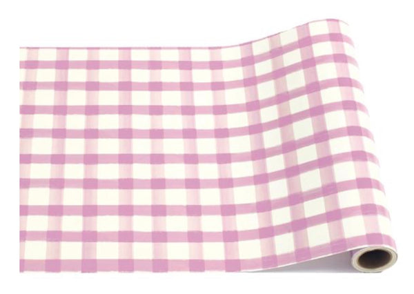 Lilac Painted Check Table Runner