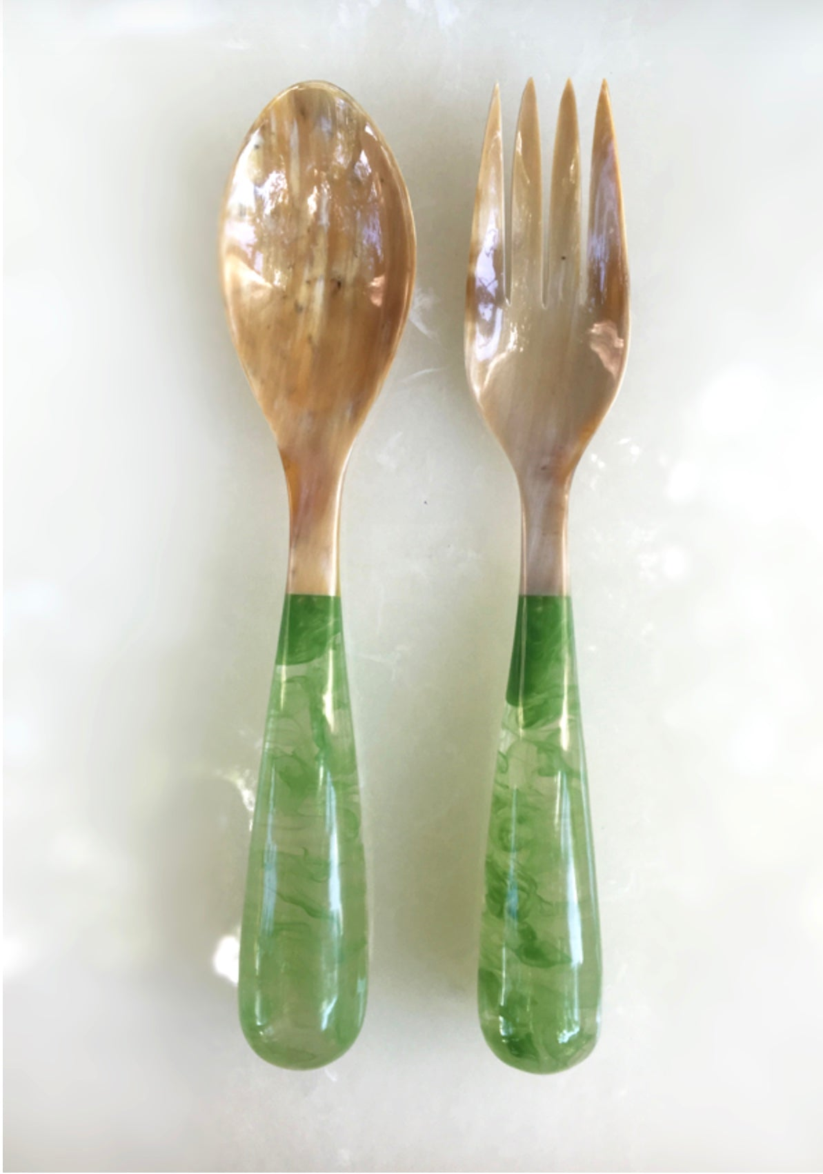 Grand Slam Salad Servers Set of 2 - Celadon