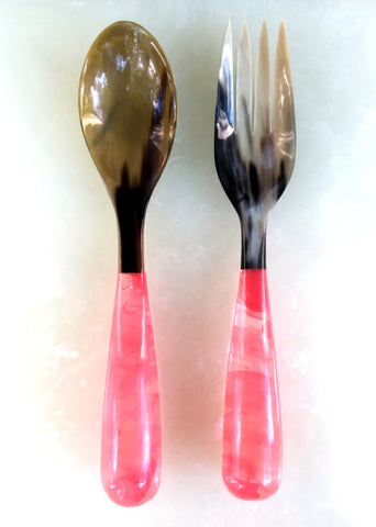 Grand Slam Salad Servers Set of 2 - Pink