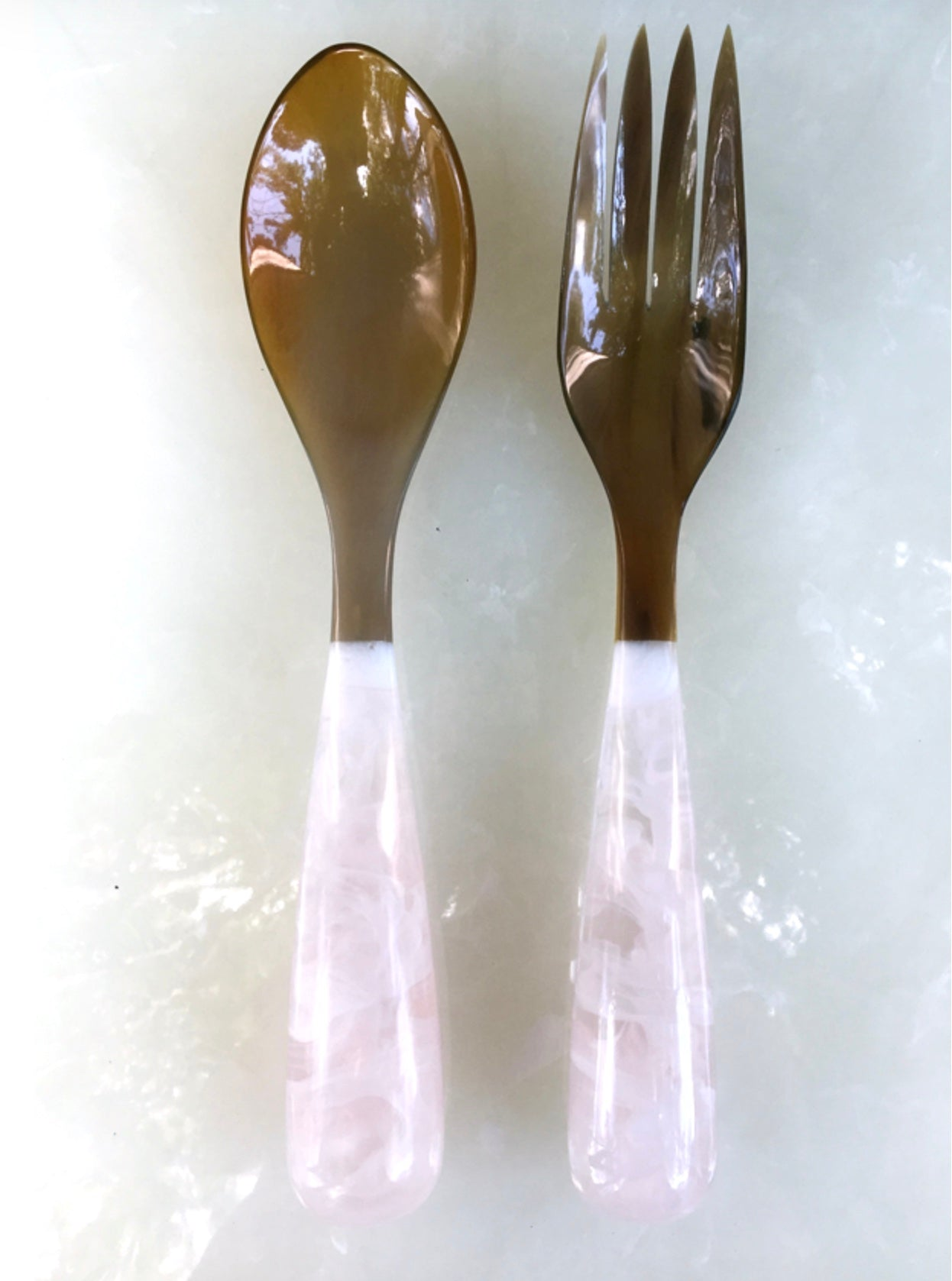 Grand Slam Salad Servers Set of 2 - White
