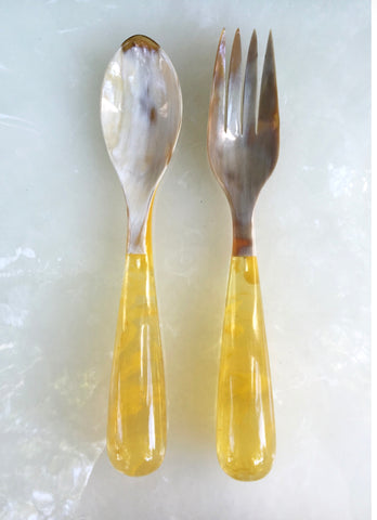 Grand Slam Salad Servers Set of 2 - Yellow