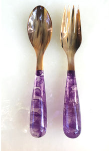 Grand Slam Salad Servers Set of 2 - Lavender