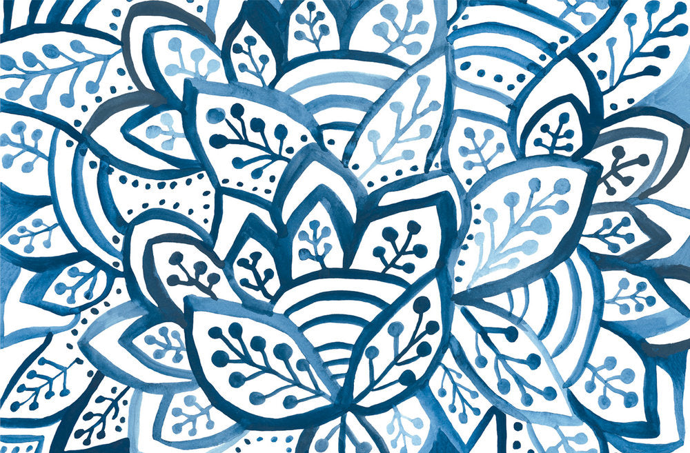 Blue Burst Paper Placemats