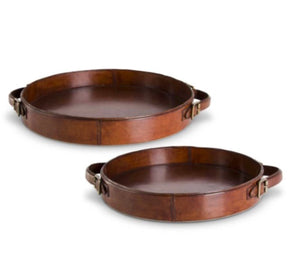 Leather Round Tray
