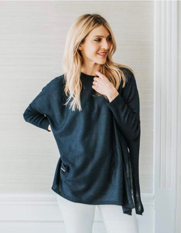 Catalina Crewneck Sweater in Navy