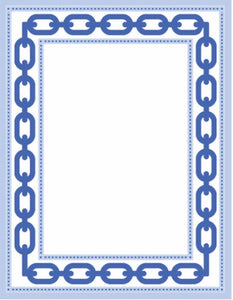Blue Chain Link 4x5 Notepad