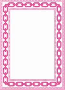 Hot Pink Chain Link 5x7 Notepad