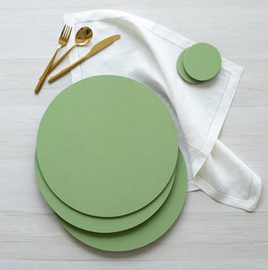 Canvas Round Moss Placemats
