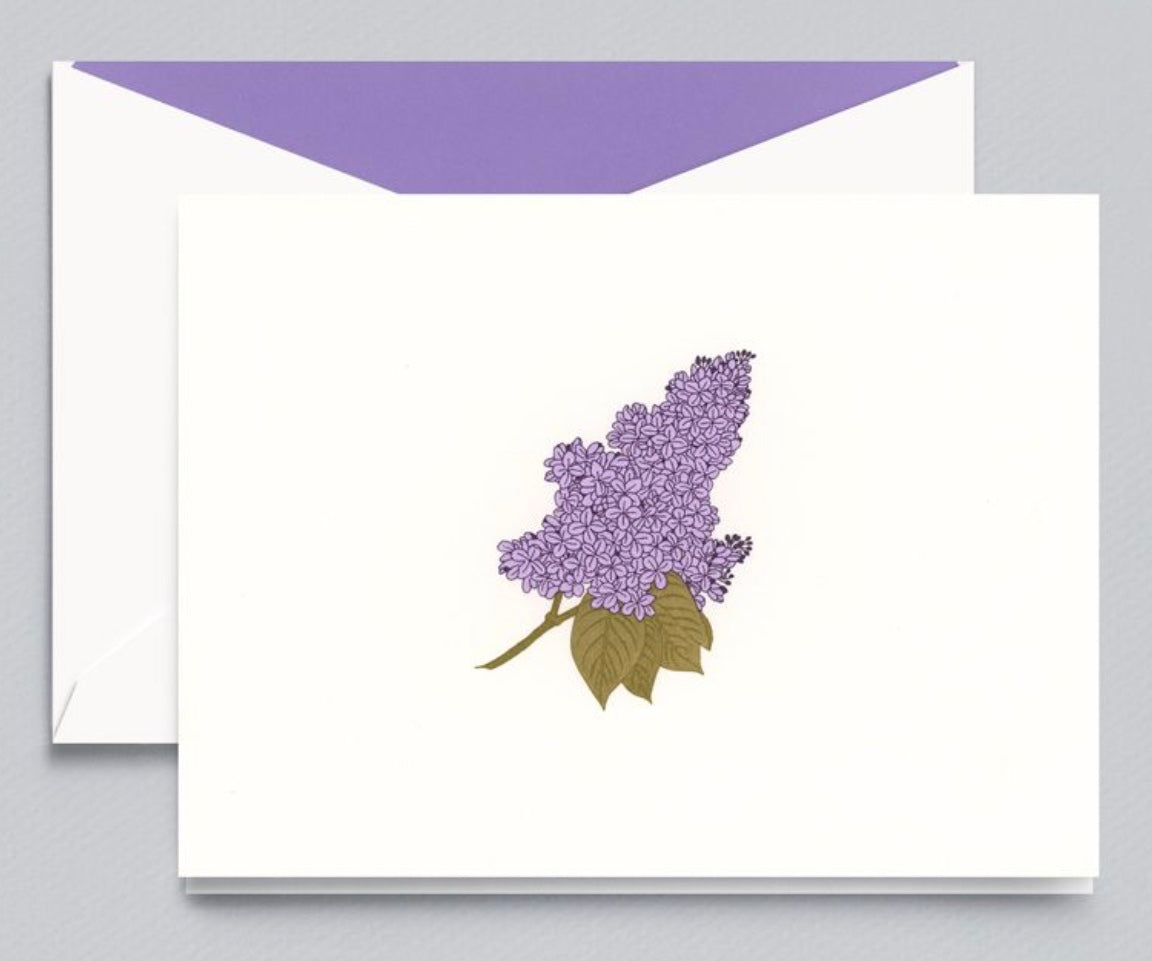 Engraved Lilac Note