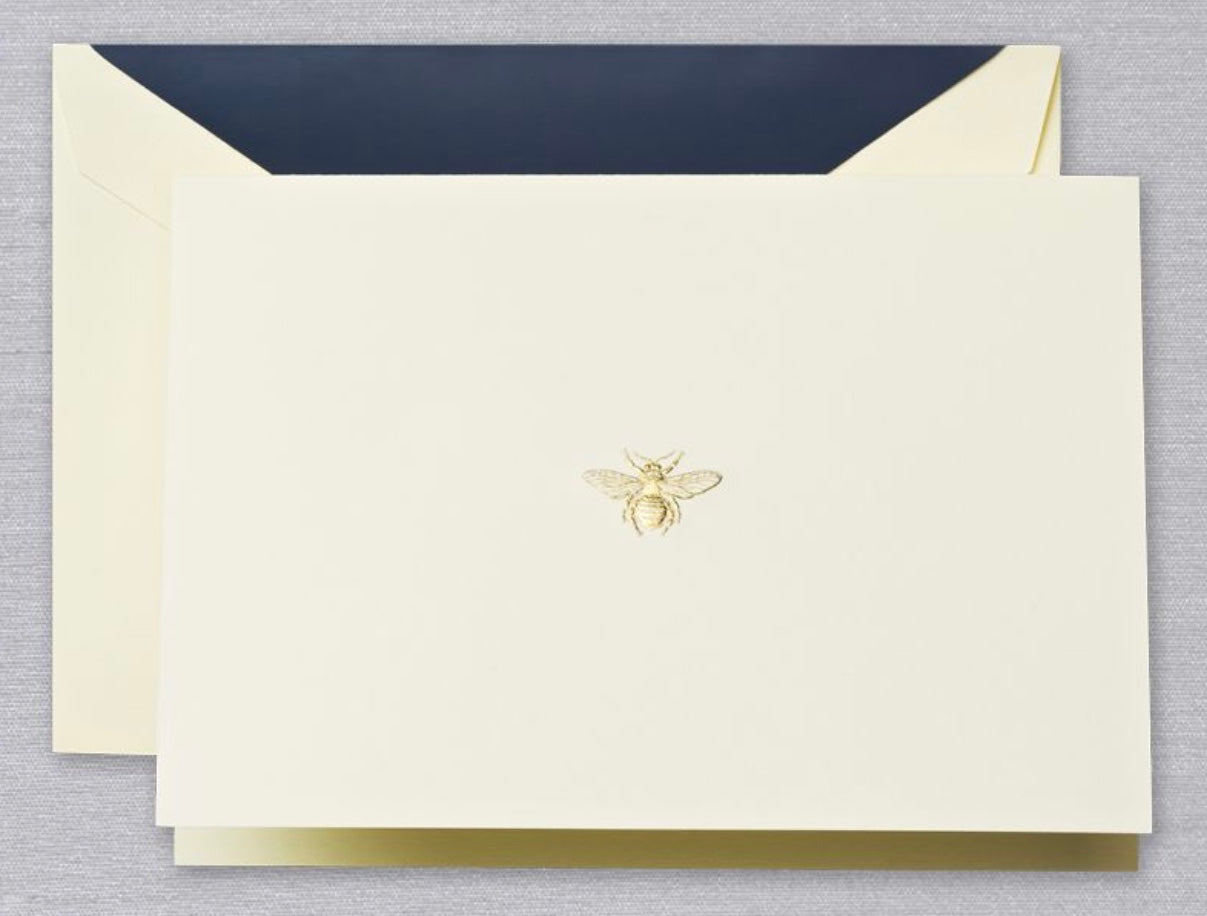 Engraved Gold Bee Notes
