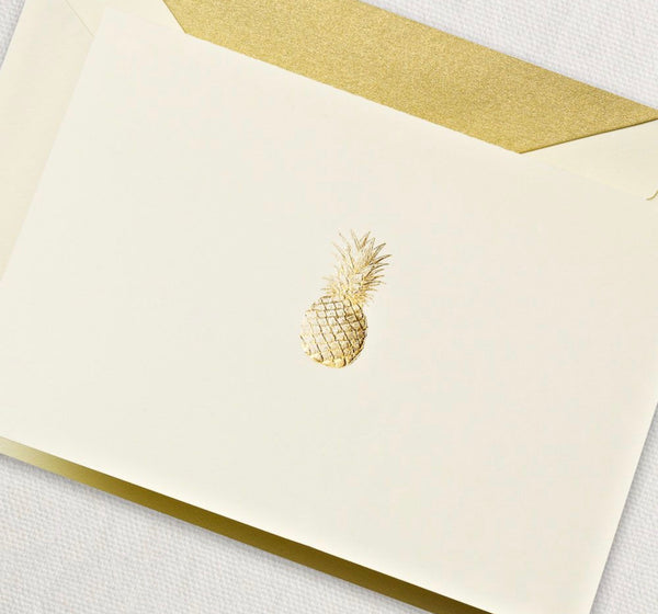Engraved Pineapple Notes