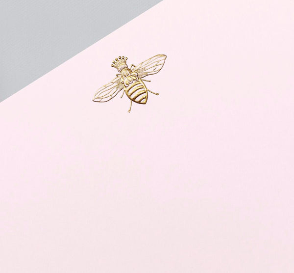 Engraved Queen Bee Correspondence Card