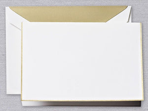 Gold Bordered Pearl White Notes