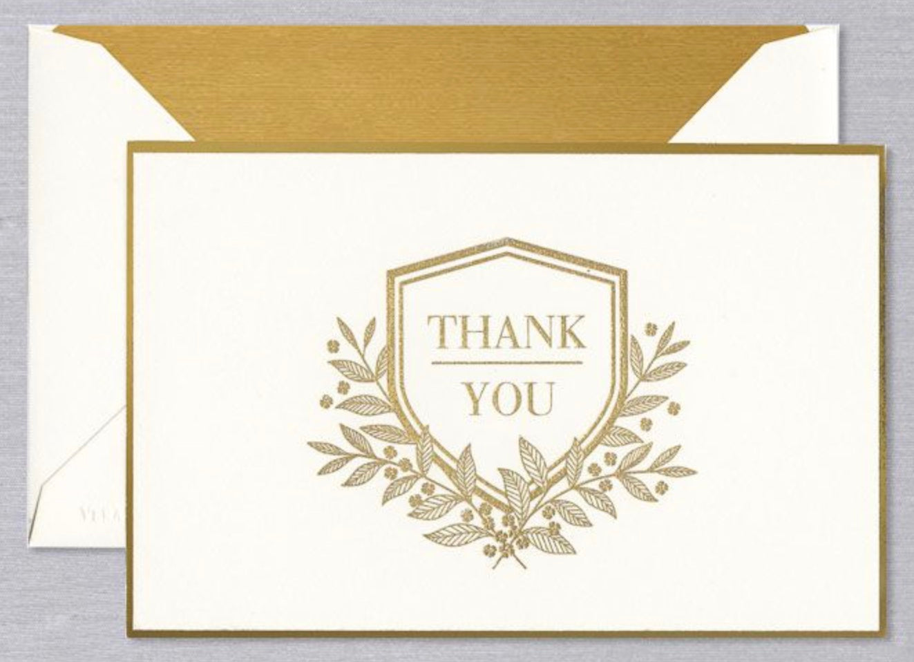 Vera Wang Engraved Shield Thank You Notes