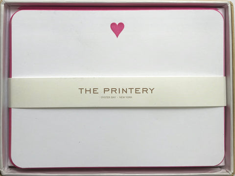Pink Heart Note Cards