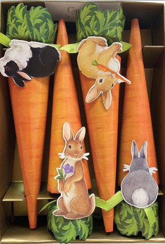 Bunnies & Carrots Cone Celebration Crackers