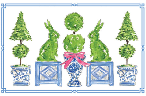 Easter Topiary Paper Placemats
