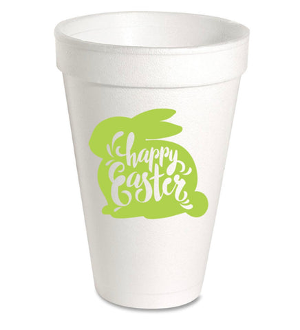 Happy Easter Bunny Styrofoam Cups