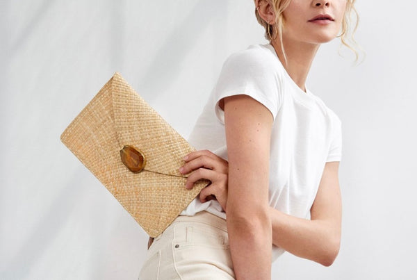 Capri Straw Clutch