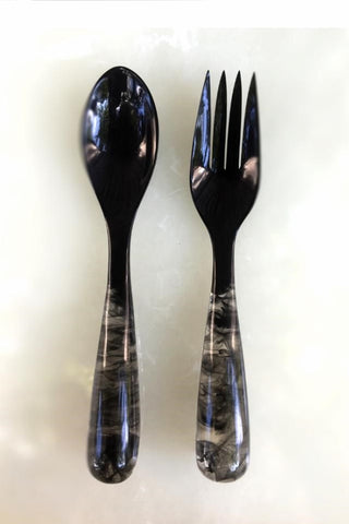 Grand Slam Salad Servers Set of 2 - Black/Black