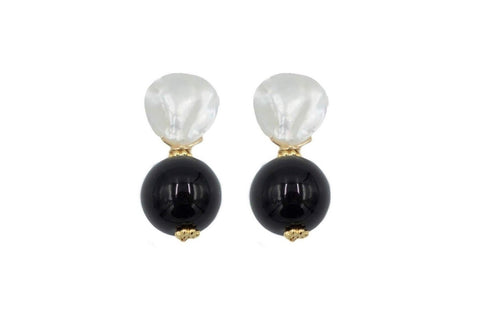 Claire Earrings in Smooth Black Onyx