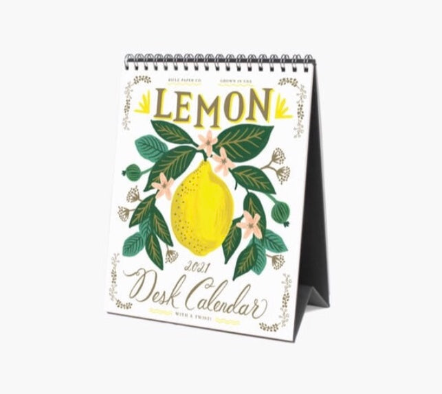 Lemon 2021 Desk Calendar