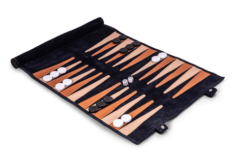 Navy Backgammon Travel Set