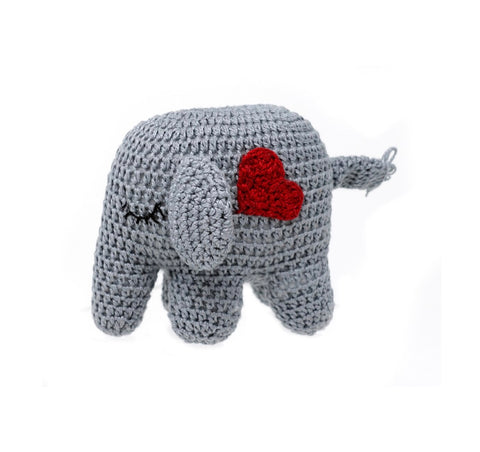 Crochet Elephant Toy with Heart