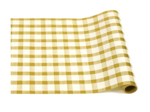 Gold Check Table Runner