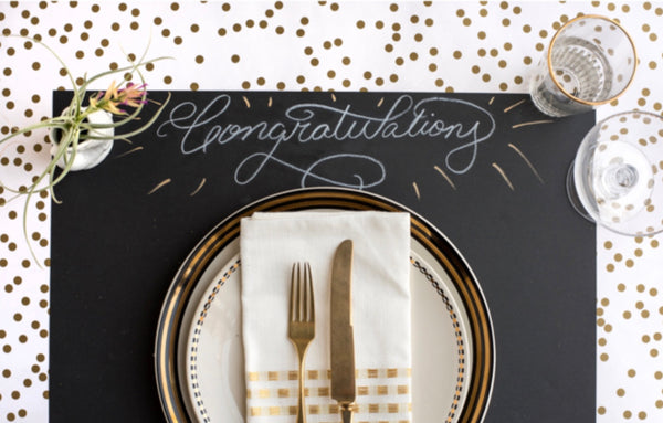 Gold Confetti Table Runner