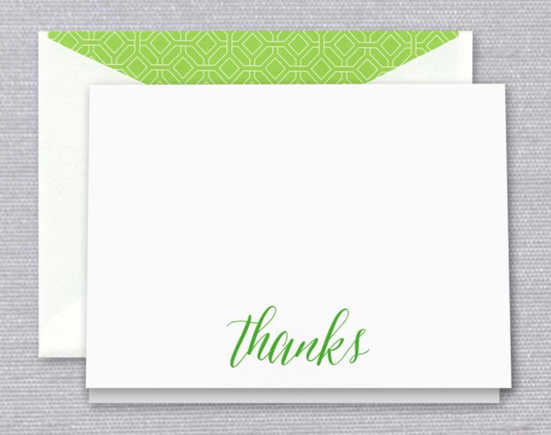 Spring Green Thank You Notes