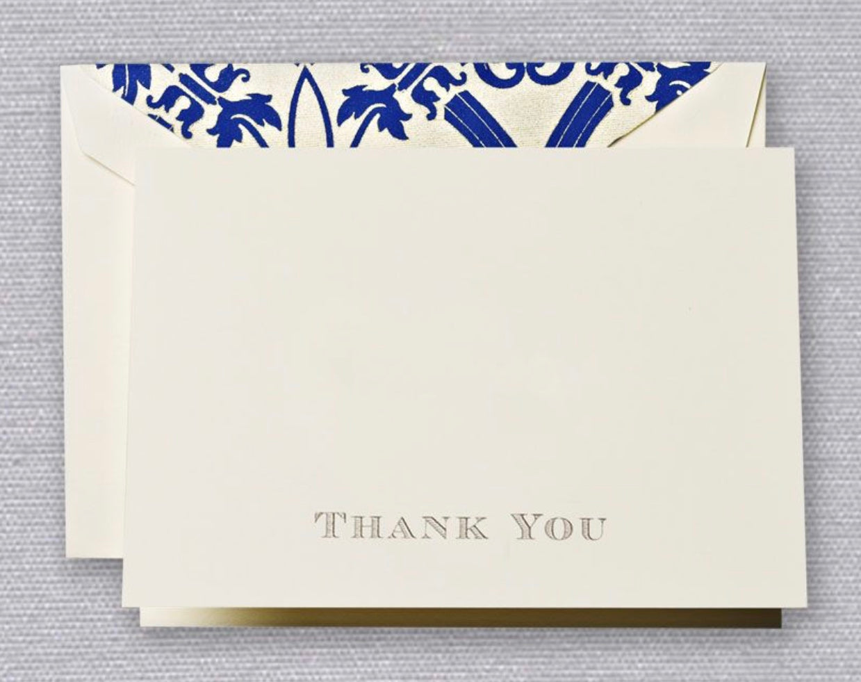 Gold Engraved Regency Thank You Notes
