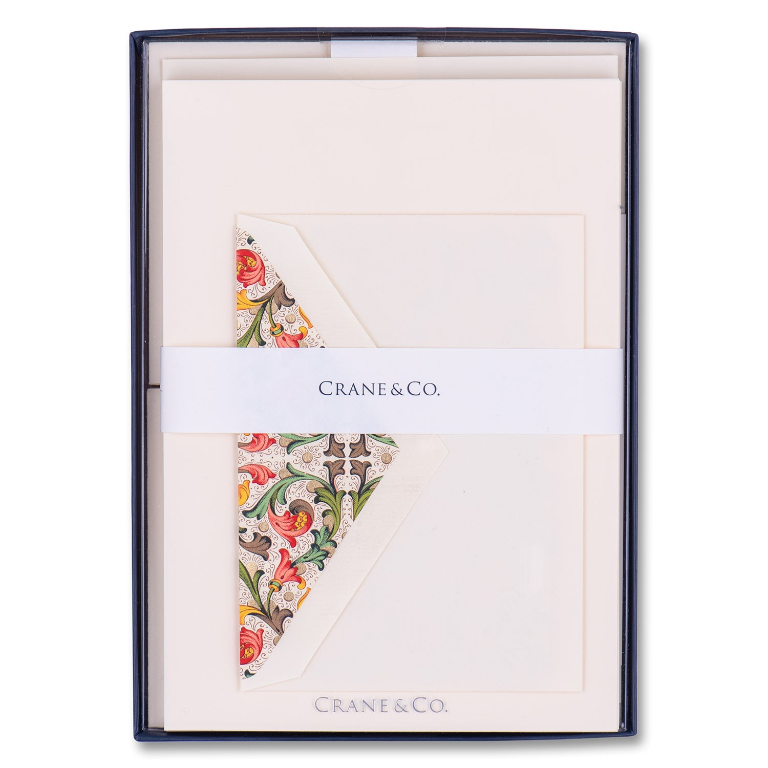 Red Florentine Half Sheet Boxed Stationery