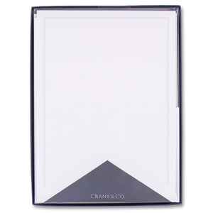Charcoal Triple Hairline Half Sheet Stationery