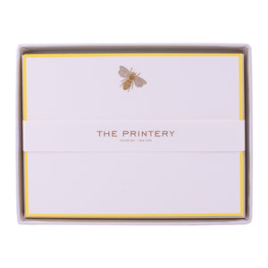 Gold Bee Boxed Note Cards