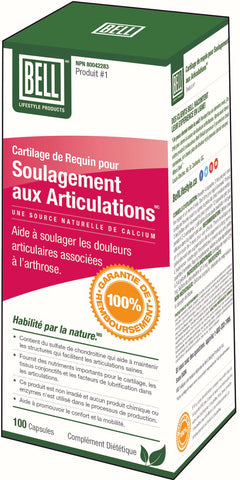 #1 BELL Douleurs aux Articulations Cartilage de Requin 100 caps.