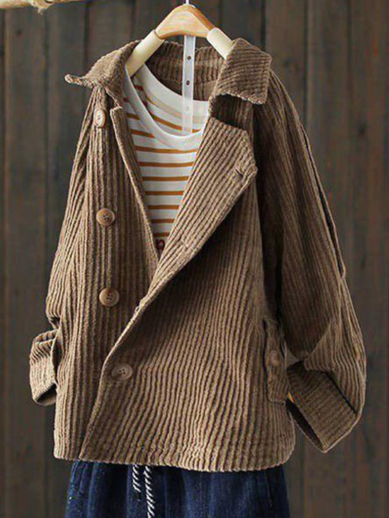 Casual Over Size Long Sleeve Corduroy Outerwear