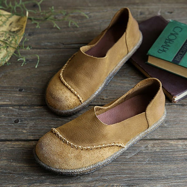 Retro Round Toe Loafers