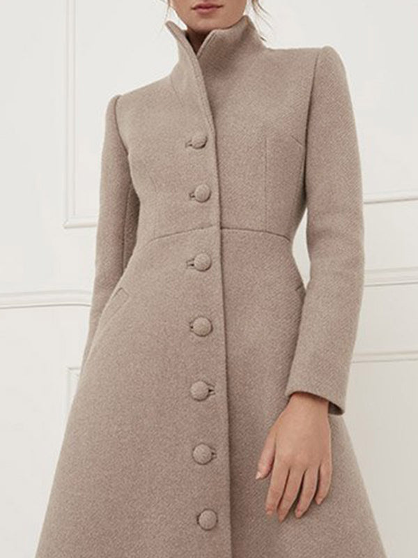 Solid Work Elegant Coat