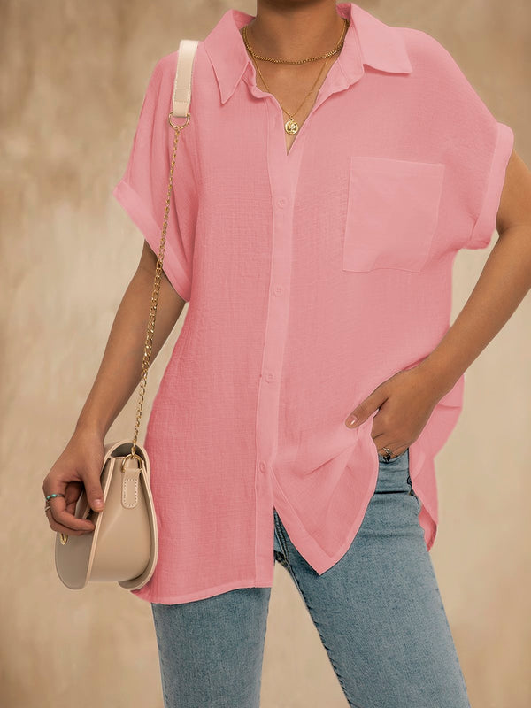 Women Summer Casual V Neck Short Sleeve Tops