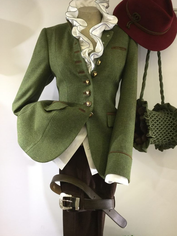 Green Paneled Plain Wool Blend Long Sleeve Outerwear