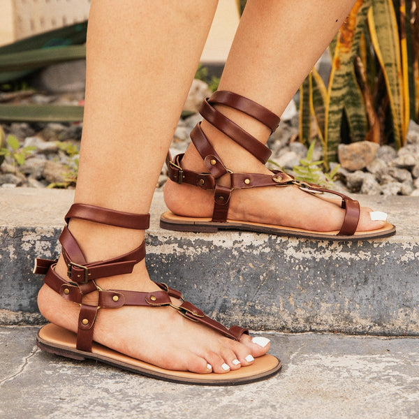 Women Pu Casual Round Toe Sandals