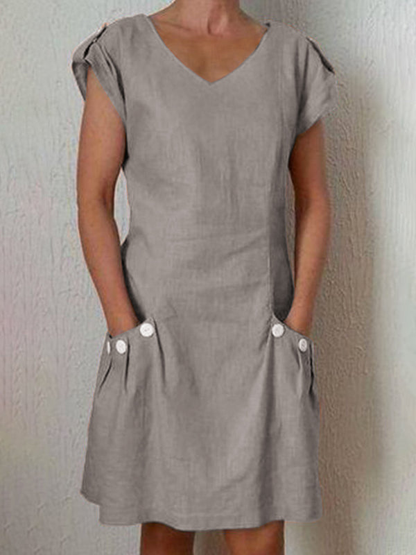 Women Dresses Shift Daily Casual Plain Dresses