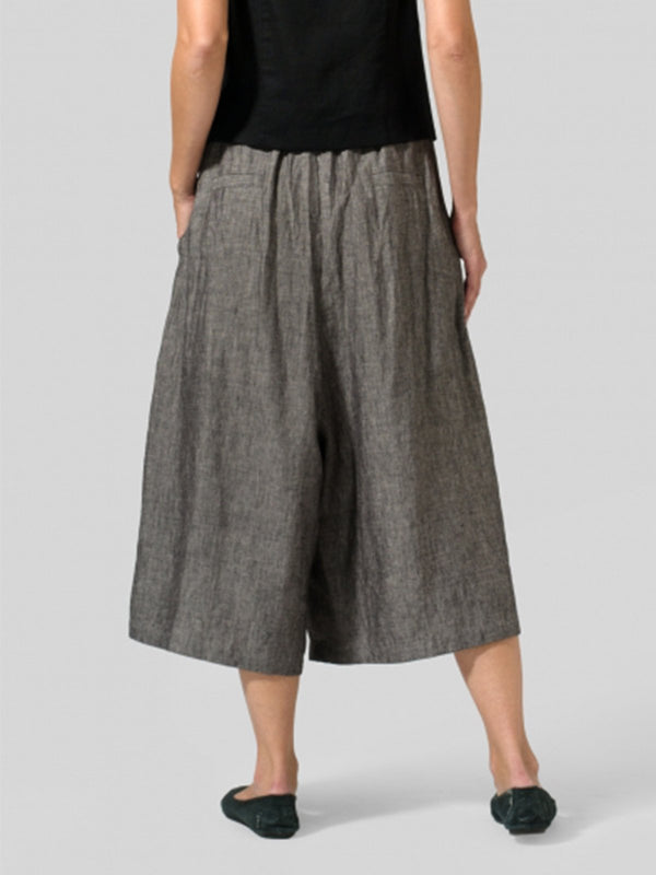 Summer Solid Casual Cotton Linen Pants
