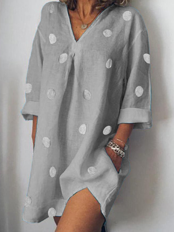 Sweet Pockets Long Sleeve Dresses